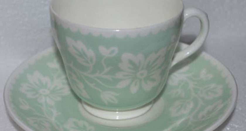 Wedgwood Mint Green Teacup Saucer Pale Simplychina
