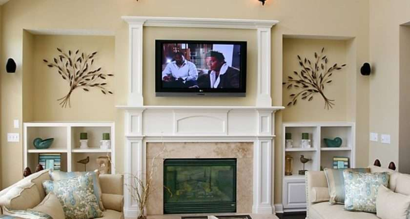 Weekend Diy Mounting Your Over Fireplace Rentcafe Rental