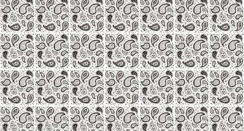 White Black Paisley Easy Just Save