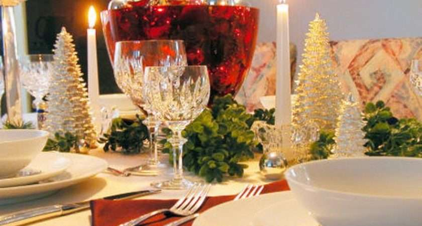 White Christmas Table Decorations Ideas Great