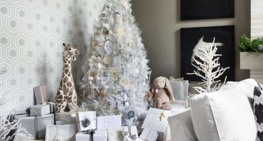 White Christmas Tree Decorating Ideas Easy Crafts Homemade