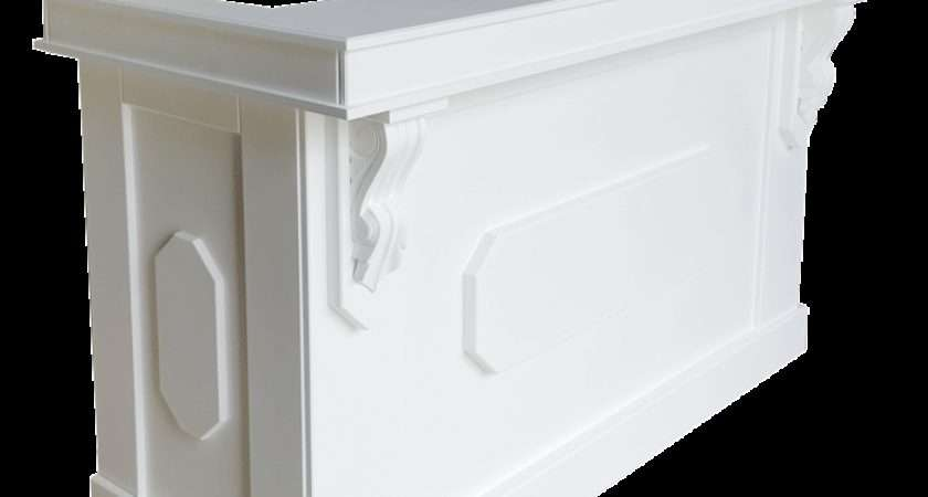 White Country Style Reception Desk Office Shop