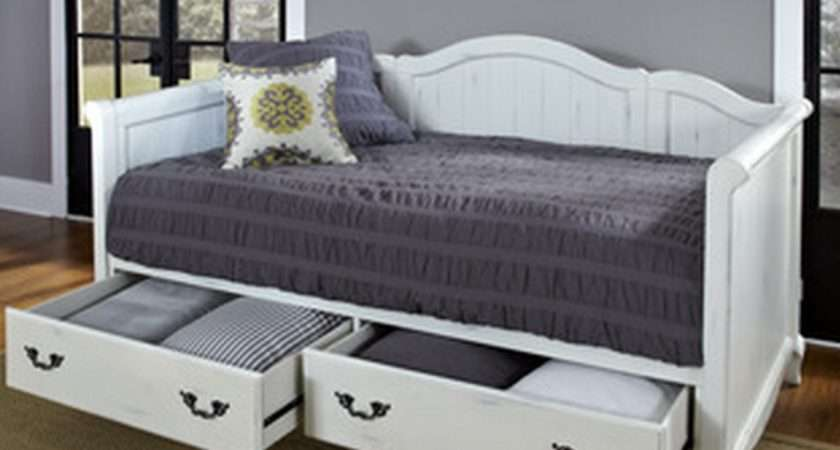 White Daybeds Storage Drawers Cute Furniture