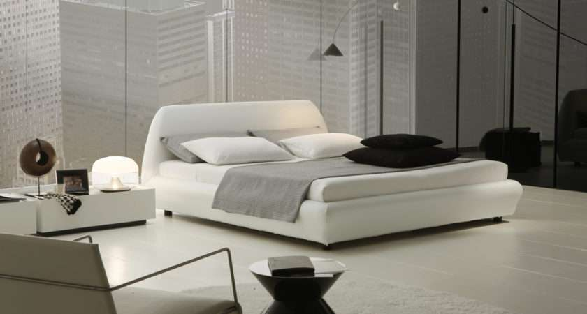 White Double Bed Interior Design