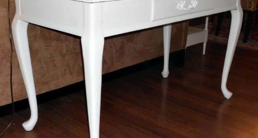 White French Country Desk Hall Console Sofa Table