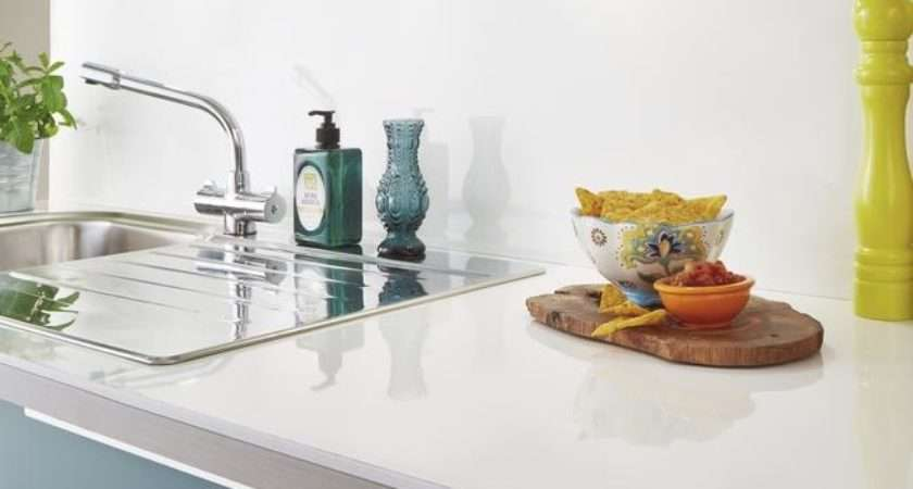 White Glass Effect Square Edged Worktop Backboard