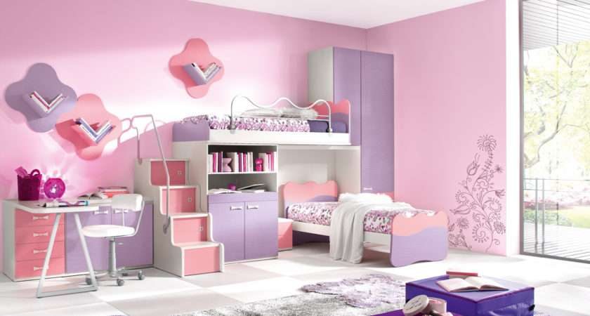 White Kids Bedroom Wooden Furniture Exciting Modern