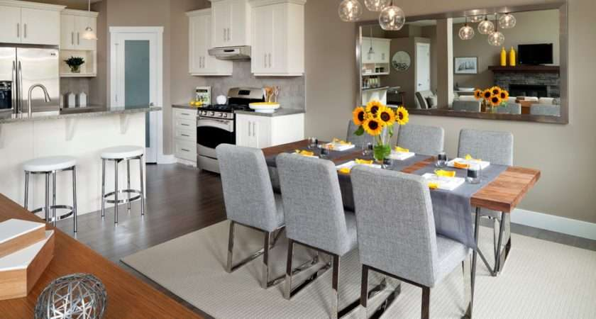 White Kitchen Dining Room Designs Small Spaces