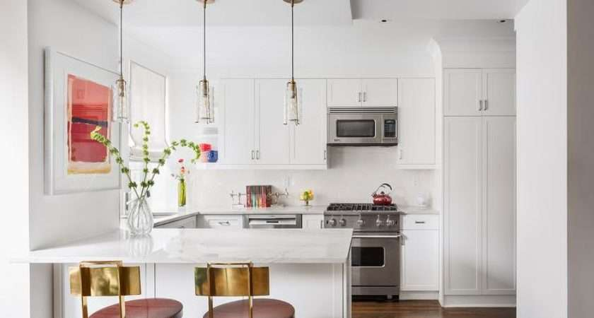 White Kitchen Over Stove Microwave Transitional