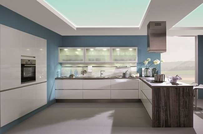 White Kitchen Worktops Contemporary Look