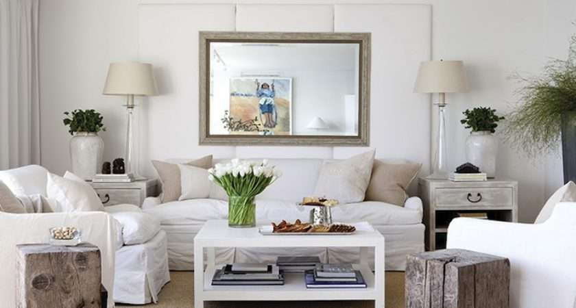 White Lacquer Coffee Tbale Cottage Living Room New England Home