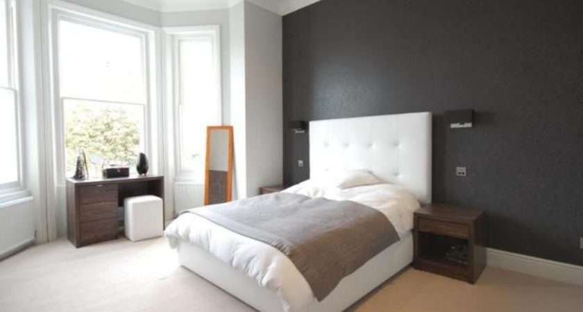 White Leather Bedroom Main Feature Wall Padded