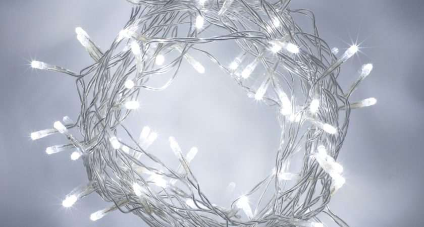 White Led Indoor Fairy Lights Clear Cable