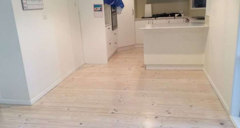White Lime Wash Red Baltic Pine Floor Timber