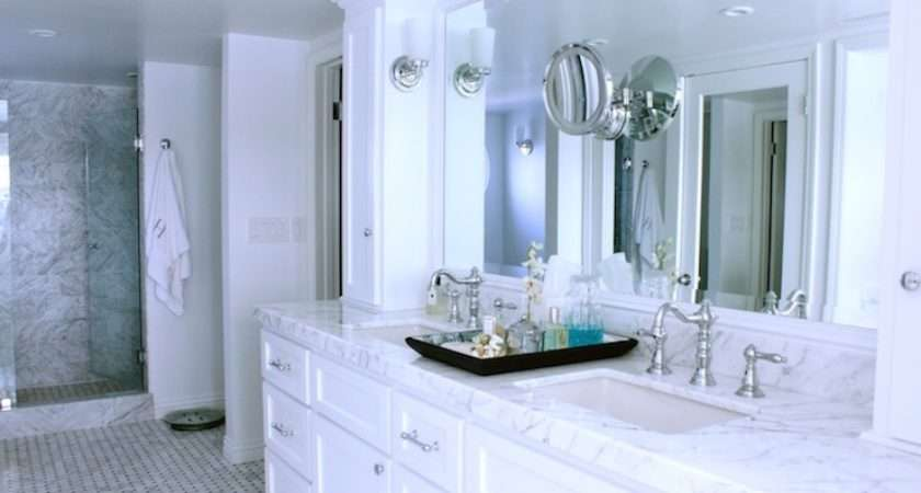 White Marble Countertops Cabinets