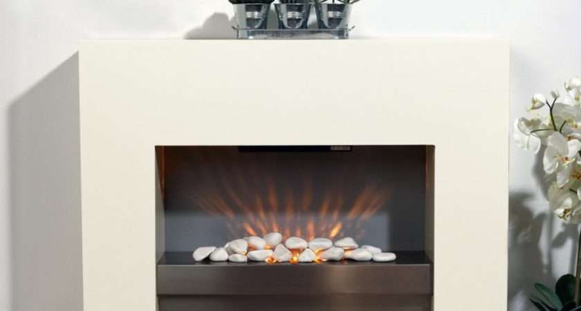 White Mdf Surround Electric Fireplace Glowmaster
