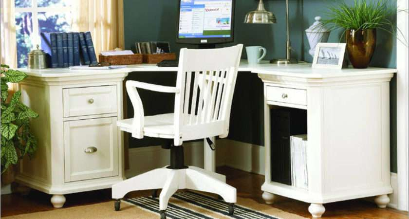 White Office Furniture Actual Home