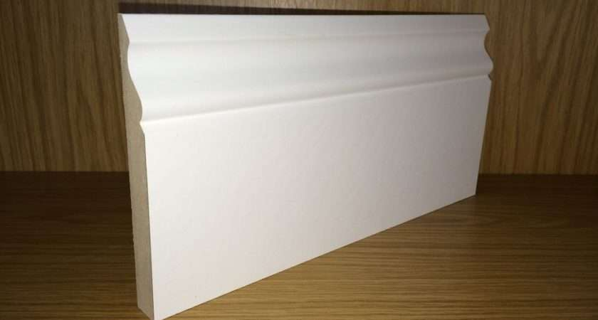 White Primed Mdf Skirting Board Ogee Matching Architrave