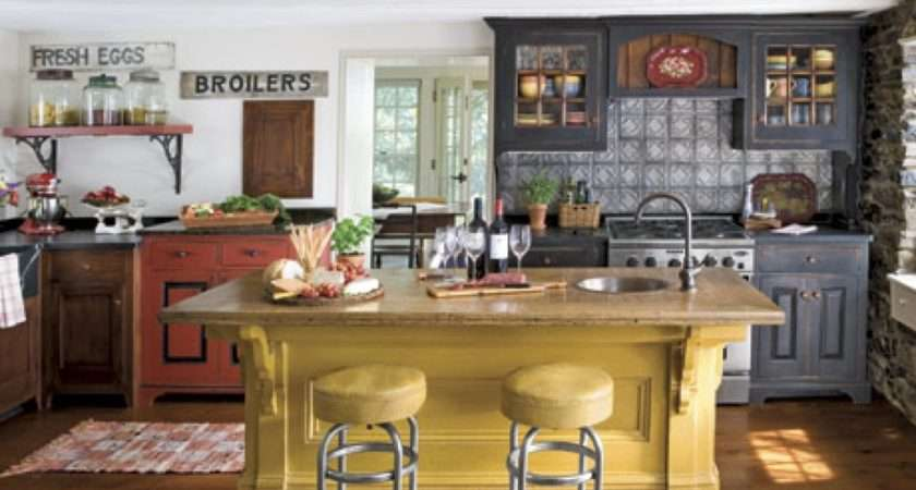 White Wall Ceiling Design Color Country Kitchen Decorating Ideas