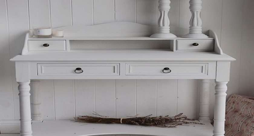 White Writing Desk Classic French Country