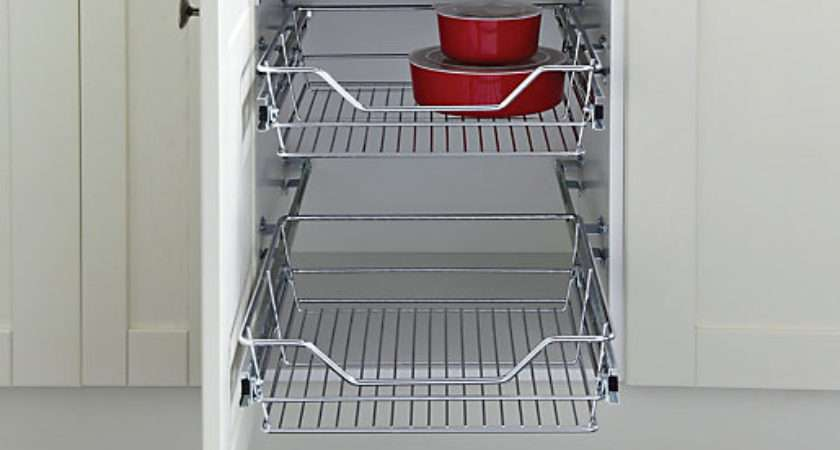 Wickes Pull Out Storage Baskets Set