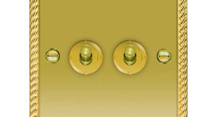 Wickes Toggle Light Switch Gang Way Polished