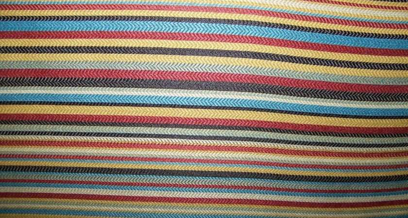 Wide Multi Colored Stripe Upholstery Drapery Fabric Ebay