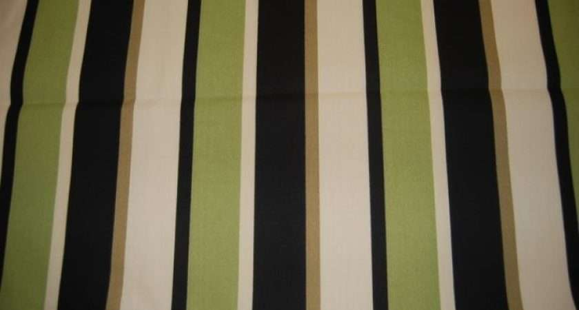 Wide Stripe Outdoor Fabric Sun Safe Acrylic Upholstery