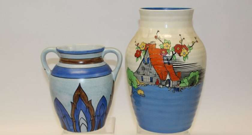 Wilkinsons Pottery Vase Decorated Picardy Pattern One Other