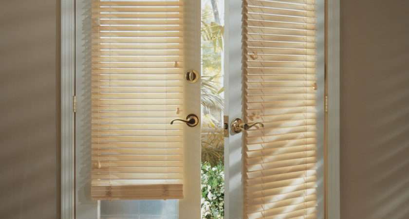 Window Coverings French Doors Grasscloth