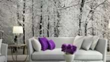 Winter Snow Branches Tree Mural