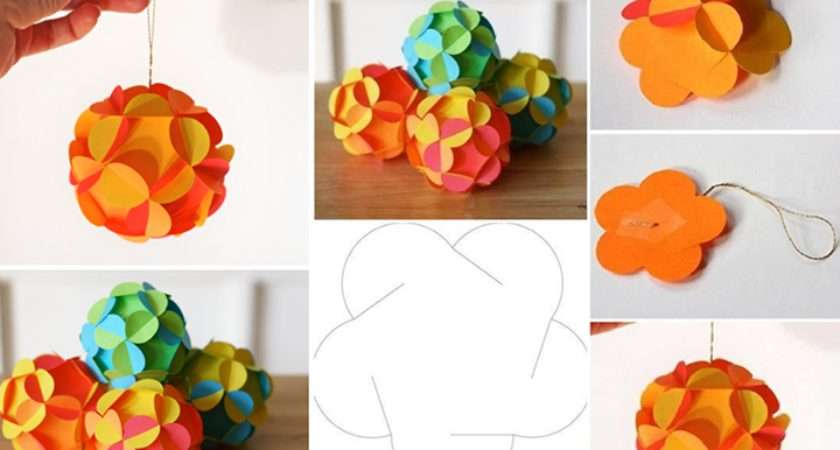 Wonderful Diy Pretty Paper Ball Ornaments