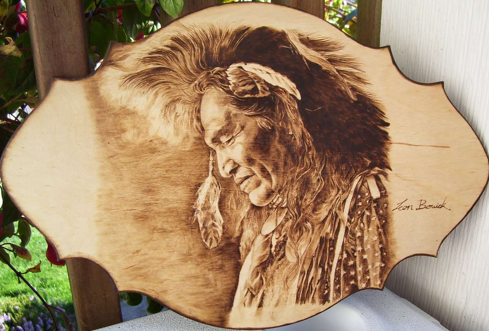 Wood Burning Art Pyrography Indains Car Interior Design