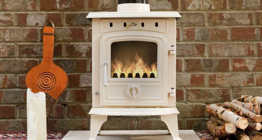 Wood Burning Cast Iron Enamel Woodburning Stove