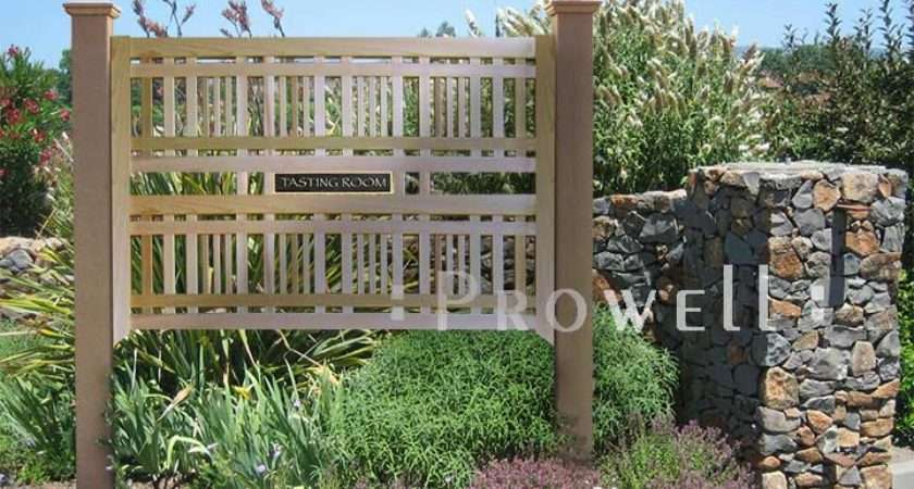 Wood Trellis Plans Prowellwoodworks Fences