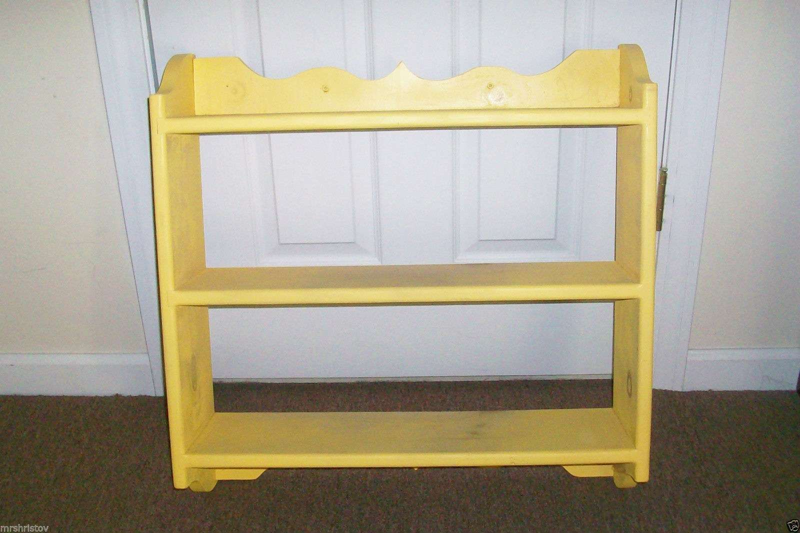 Wood Wall Shelf Shelves Color Yellow But Can Painted Another