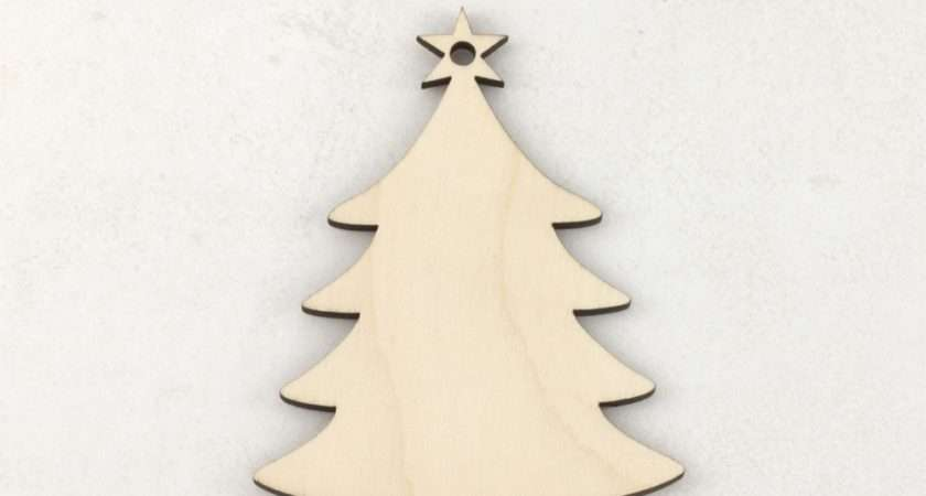 Wooden Christmas Tree Craft Blank Decorations Artcuts