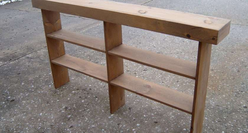 Wooden Console Sofa Table Entryway Wayneswoodworking