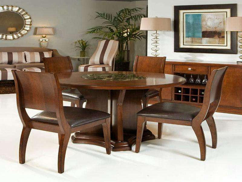 Wooden Round Dining Table Design Resize