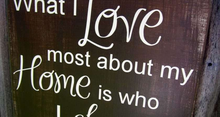Wooden Sign Love Most