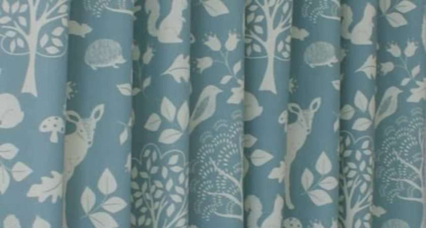 Woodland Duck Egg Made Measure Curtains