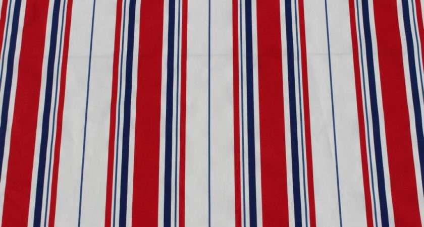 Woven Cotton Multi Coloured Ticking Deckchair