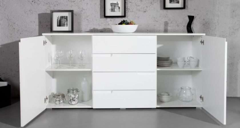 Wow Large White Gloss Sideboard Furniturefactor