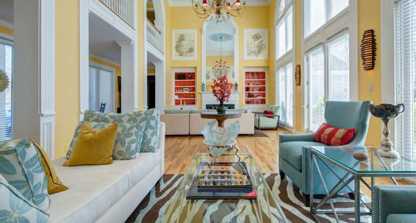 Yellow Accent Chair Furniture Decorating Ideas Living Room