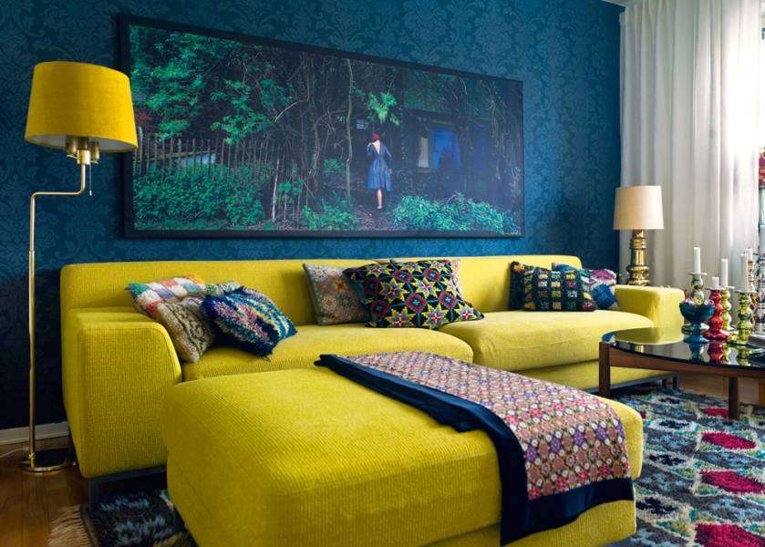 Yellow Blue Living Room