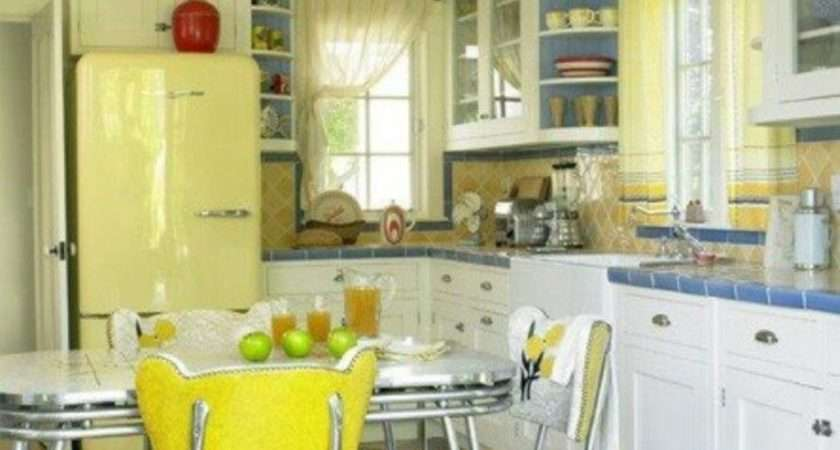 Yellow Fridge Retro Appliances Amazing Kitchen