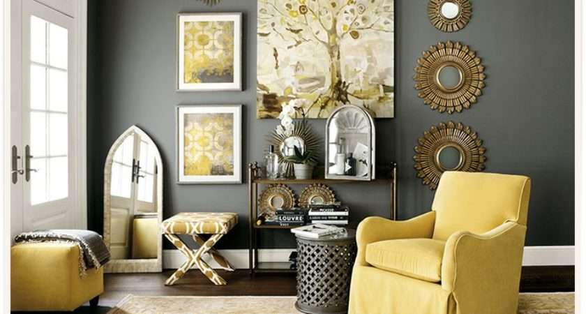 Yellow Gray Living Room Homes
