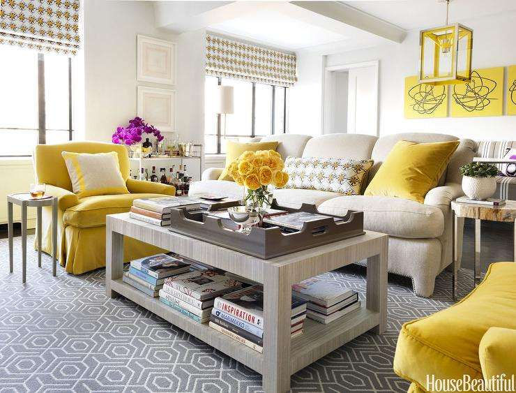 Yellow Gray Living Room Rooms Design Ideas