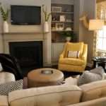 Yellow Gray Living Room Transitional Lucy