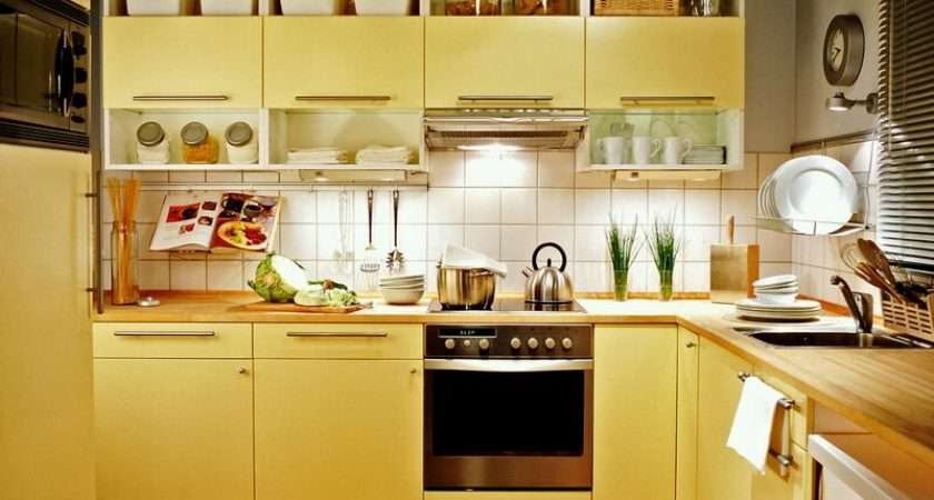 Yellow Kitchen Cabinets Color Ideas Design Best